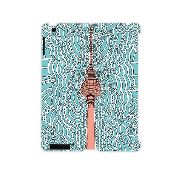 KPdesign + Juniqe - Fernsehturm Drawing Meditation iPad Hülle