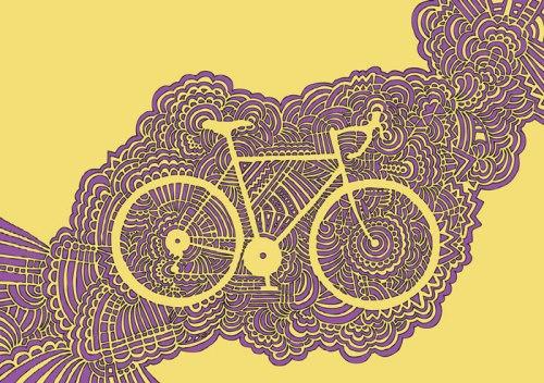 Bike Meditation (Yellow/Purple)